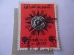 Sellos del Mundo : Asia : Irak :  escudo de Armas de la República.