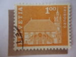 Stamps Switzerland -  Fribourg - Townhall, Froiburg