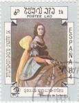 Stamps Laos -  PINTURA-de Francisco de Zurbarán