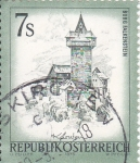 Sellos de Europa - Austria -  Falkenstein Castle, Kärnten