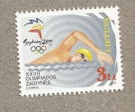 Stamps of the world : Lithuania :  Natación Olimpiadas de Sydney