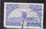 Stamps : Asia : Bangladesh :  edificio-service