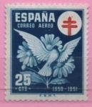Sellos de Europa - España -  Pro Tuberculos (Paloma y Margaritas)
