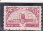 Sellos de Asia - Pakistán -  edificio-service