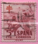 Stamps of the world : Spain :  Pro Tuberculos (Niños en la Playa)