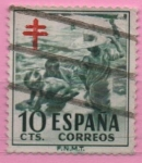 Stamps Spain -  Pro Tuberculos (Niños en la Playa)