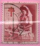 Sellos de Europa - España -  Pro Tuberculos (Enfermera puericultura)