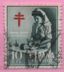 Stamps Spain -  Pro Tuberculos (Enfermera puericultura)