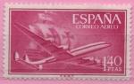 Sellos de Europa - España -  Super Constelacion y Nao Santa Maria