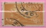 Stamps Spain -  Super Constelacion y Nao Santa Maria