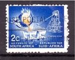 Sellos del Mundo : Africa : Sudáfrica : Vertido del oro