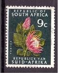 Sellos del Mundo : Africa : Sudáfrica : serie- Flores
