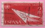 Stamps Spain -  alegoria (Flecha de papel)