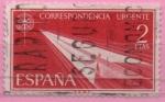 Sellos de Europa - España -  alegoria (Flecha de papel)
