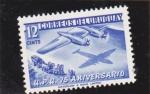 Stamps : America : Uruguay :  U.P.U. 75 ANIVERSARIO