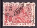 Sellos del Mundo : Asia : India : Inauguración enero 26 1950