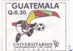 Stamps Guatemala -  UNIVERSITARIOS CENTROAMERICANOS Y CARIBE