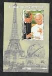 Stamps : Africa : Guinea :  1989 Juan Pablo II, con el Cardenal Runcie