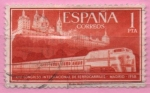 Stamps Spain -  Tren Talgo y Monasterio d´Escorial