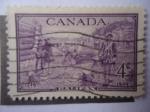 Sellos de America - Canadá -  Fundación de Halifax, 1749 - Bicentenario de Halifax- Nueva Escocia.