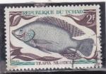 Stamps : Africa : Chad :  PEZ-TILAPIA NILOTICA