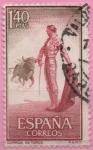 Stamps Spain -  Fiesta Nacional Tauromaquia (Citando al Toro)
