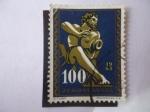 Stamps : Europe : Yugoslavia :  Ljubljana - Liubliana - Figura de la Fuente Barroca-Ljubljana del S.XVIII.