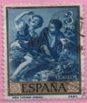 Stamps Spain -  Niños comiendo melon