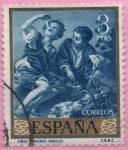 Stamps : Europe : Spain :  Niños comiendo melon