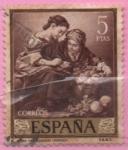 Sellos del Mundo : Europa : España : Niños contando monedas