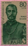 Stamps Spain -  Ponce d´Leon