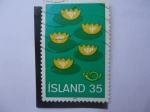 Stamps : Europe : Iceland :  Protección de la Naturaleza - 5 Lirios de Agua.