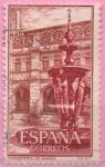 Stamps Spain -  Real Monasterio d´Somos (Patio)