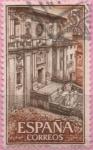 Sellos de Europa - España -  Real Monasterio d´Somos (Fachada)