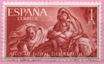 Sellos de Europa - España -  Año Mundial d´Refugiado (Huida a Egipto)