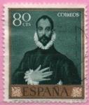 Stamps Spain -  El Caballero d´l´ mano en el pecho