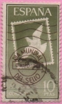 Stamps Spain -  Dia mundial d´sello 1961