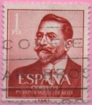 Stamps Spain -  Juan Vazquez d´Mella