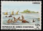 Stamps Africa - Equatorial Guinea -  Pesca artesanal de ballenas - Annobon