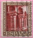 Sellos de Europa - España -  Claustro d´monasterio d´Silos