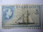 Stamps Barbados -  Inter Colonial Schooner - Galeta entre Colonias -Queem Elizabeth II