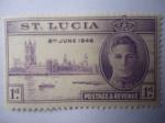 Sellos del Mundo : America : Santa_Lucia : Aniversario de Victoria, 8 de Junio 1946 - King George VI