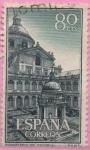 Stamps Spain -  Real monasterio d´san Lorenzo d´Escorial (Patio d´l´Evangelistas)