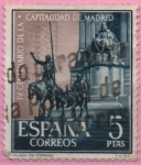 Stamps of the world : Spain :  IV centenario d´l´capital d´Madrid (Monumento a Cervantes)