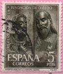 Sellos del Mundo : Europa : España :  XII centenario d´l´Fundacion dl Oviedo (San Pedro y San Pablo)