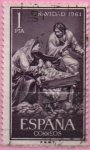 Stamps Spain -  Navidad (Sagrada Familia)