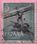 Stamps Spain -  L aniversario d´l´Aviacion Española (Caza d´l´Avutarda)