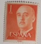 Stamps Spain -  Franco 1 pta