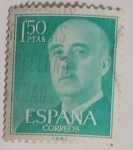 Stamps Spain -  Franco 1.50 ptas