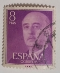 Stamps Spain -  Franco 8 ptas